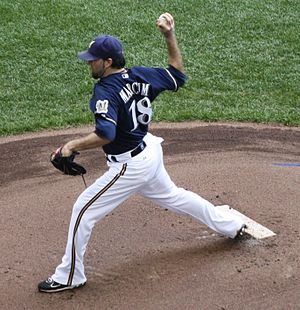English: pitching at Miller Park, , Wisconsin,...