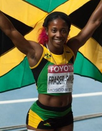 Shelly-Ann Fraser-Pryce - Fraser-Pryce at the 2013 World Championships