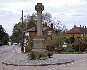Shenley, Hertfordshire - Image: Shenley War Memorial geograph.org.uk 594331