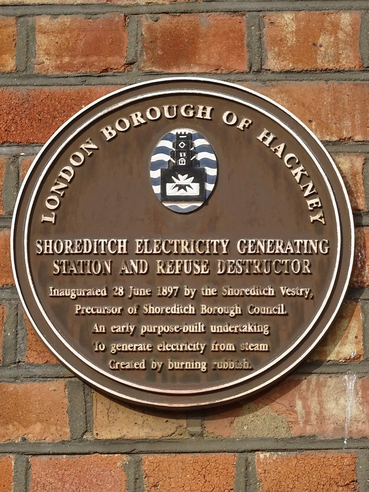 Shoreditch Station: File:Shoreditch Electricity Generating Station And Refuse