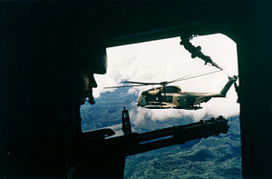 40th Helicopter Squadron - 40th ARRS HH-53 as seen from a 21st SOS CH-53 in 1972