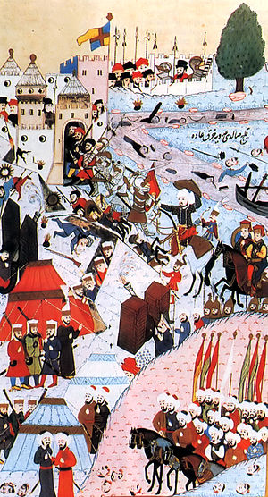 Belgrade - Siege of 1456, Ottoman miniature.