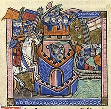 Miniature of the siege of Tyre in 1124