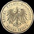 Siegelmarke Königliche Ersatz - Kommission Altona (Elbe) W0220467.jpg