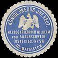 Siegelmarke K.Pr. Infanterie Regiment Herzog Friedrich Wilhelm von Braunschweig (Ostfries.) No. 78 III. Bataillon W0345455.jpg