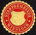 Siegelmarke Stadtgemeinde - Wiesloch W0232852.jpg