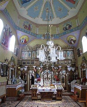 Selets, Drohobych Raion - Interior of the Church of the Theotokos (2009)