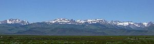 Bridgeport Valley - View of the Sierra Nevada from the floor of the Bridgeport Valley