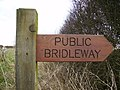 Sign at Bridleway which leads to Scrayingham - geograph.org.uk - 350099.jpg