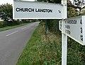 Sign for Church Langton - geograph.org.uk - 587822.jpg