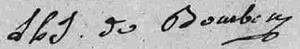 Louis Henri, Prince of Condé - Image: Signature of Louis Henri Joseph de Bourbon, Duke of Bourbon (future Prince of Condé) in August 1785