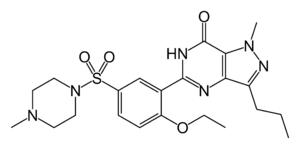 Estructura química del sildenafil
