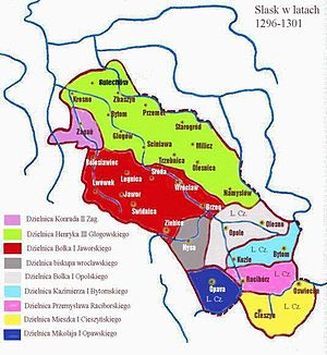 Duchy of Jawor - Image: Silesia 1296 1301