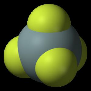 Silicon tetrafluoride - Image: Silicon tetrafluoride 3D vd W