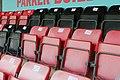 Social distancing seat markings at the Dripping Pan Lewes FC Women v London Bees 30 08 2020 pre season-38 (50288917453).jpg