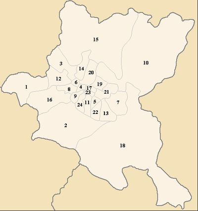 The municipalities of Sofia