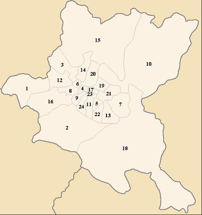 The municipalities of Sofia