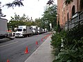 Some trucks lined up to support the filming of the 2010 TV series Nikita -b.jpg