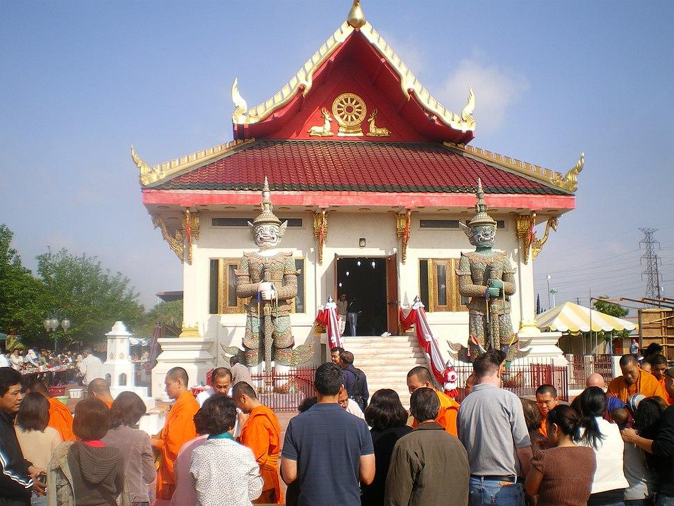 Songkran at Wat Thai in Los Angeles, April 2008