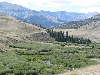 Hot Springs County, Wyoming - Image: South Fork Owl Creek WY