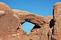 South Window Arch, Entrada Sandstone (Middle Jurassic), Windows Section, Arches National Park, eastern Utah 4 (8471381848).jpg