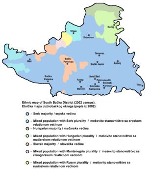 South Bačka District - Ethnic map of South Bačka District