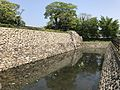 South moat and stone wall of Nakatsu Castle.jpg