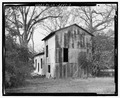 South side and east rear - Cotton Gin, State Highway 3-U.S. Highway 19 at Croxton Cross Road, Sumter, Sumter County, GA HABS ga-2387-2.tif