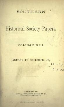 Southern Historical Society Papers volume 13.djvu