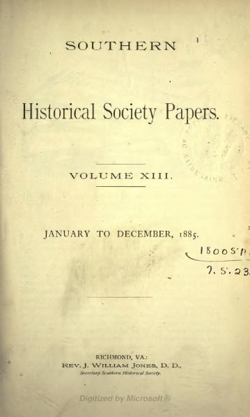 File:Southern Historical Society Papers volume 13.djvu