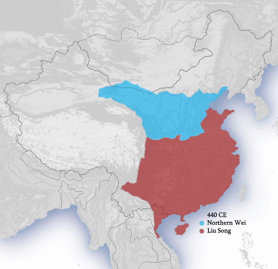 Southern and Northern Dynasties 440 CE