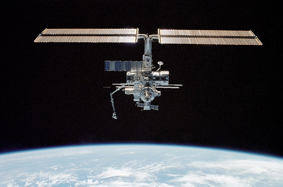 Space Station as photographed by a STS-112 crewmember