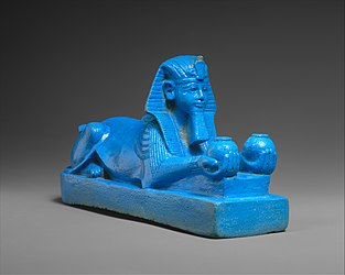 Sphinx of Amenhotep III, possibly from a Model of a Temple MET DT539.jpg