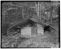 Spring house, east elevation - Trump-Lilly Farm, Hinton, Summers County, WV HABS WVA,45-HINT.V,1-19.tif