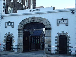 St. James's Gate - The St. James's Gate entrance to the Guinness brewery