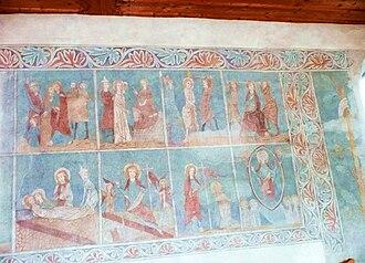 Uesslingen-Buch - Image: St. Sebastianskapelle Malerei