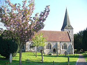 Grade I listed buildings in Surrey - Image: St Andrew's Church, Cobham. geograph.org.uk 790984