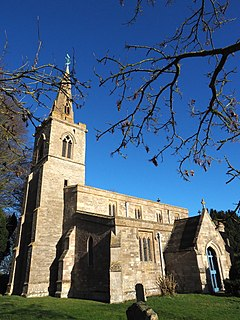 St Andrews Church, Steeple Gidding Church in Cambridgeshire, England