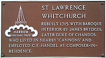 St Lawrence in Whitchurch plaque.jpg
