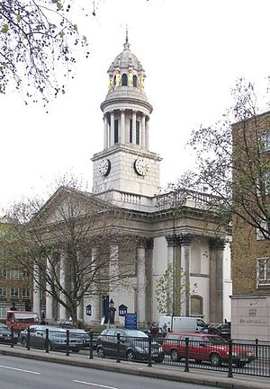 St Marylebone Parish Church - Image: St Marylebone Church, Marylebone Road, London W1 geograph.org.uk 297548