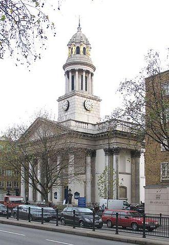 St Marylebone Parish Church - Image: St Marylebone Church, Marylebone Road, London W1 geograph.org.uk 297548