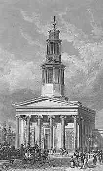St Pancras New Church - St Pancras New Church soon after completion in the 1820s.