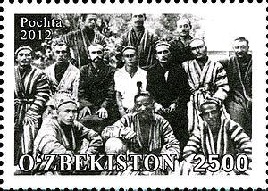 Football in Uzbekistan -  100 Years of Uzbek Football on stamp of Uzbekistan