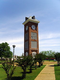 Clock tower on the town square