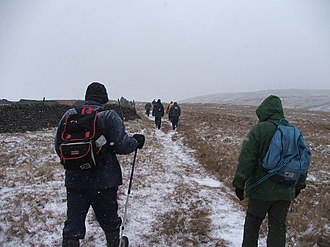 Starbotton - Stabotton is popular with Ramblers year round (seen here at Starbotton peat grounds).