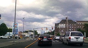 Connecticut Route 130 - CT as State Street at the intersection of Park Avenue in Bridgeport.