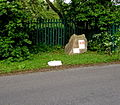 Station Road boulder marking the original location of Patchway railway station-Geograph-4474488-by-Jaggery.jpg