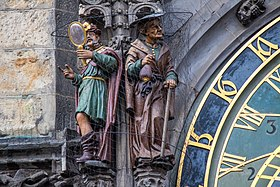 Statues on Prague Astronomical Clock 2014-01 (landscape mode) 4.jpg
