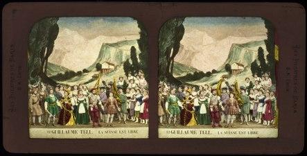 Stereokort, Guillaume Tell 12, La Suisse et libre - SMV - S161b.tif