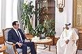 Steven Mnuchin and Qatari PM Sheikh Khalid Feb 2020.jpg